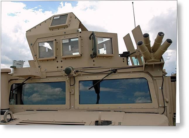 Truck Greeting Cards - War Armed Vehicle Greeting Card by LeeAnn McLaneGoetz McLaneGoetzStudioLLCcom