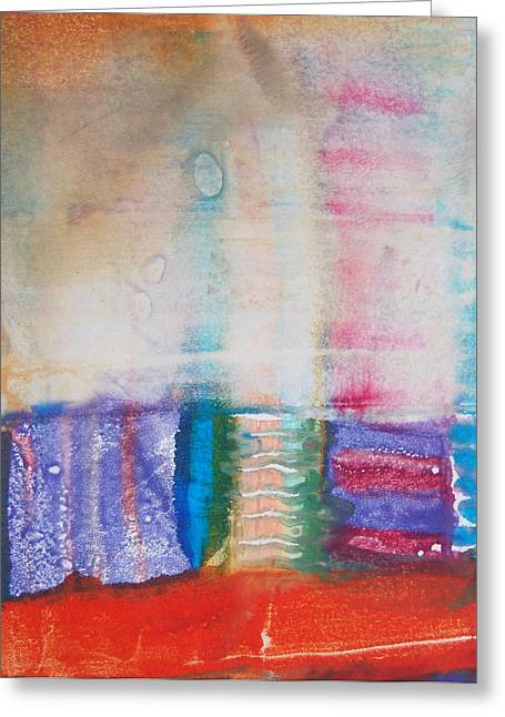 Conditions Mixed Media Greeting Cards - War Colors Greeting Card by Jorge Luis Bernal