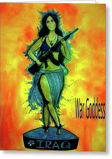 War Goddess Greeting Card by Michelle Dallocchio