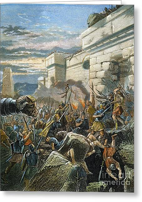 Nast Greeting Cards - War In Ancient Times Greeting Card by Granger