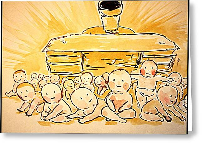 Unconsciousness Greeting Cards - War Innocence Greeting Card by Paulo Zerbato