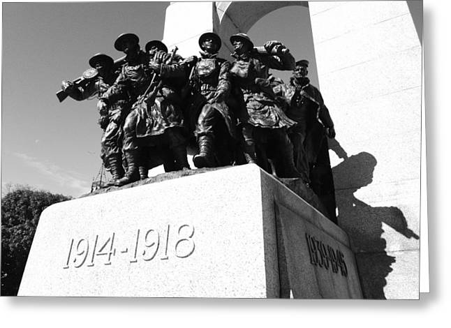 War Memorial Greeting Card by Kevin Gilchrist