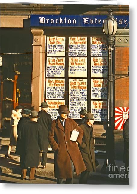Enterprise Greeting Cards - War News Christmas 1940 Greeting Card by Padre Art