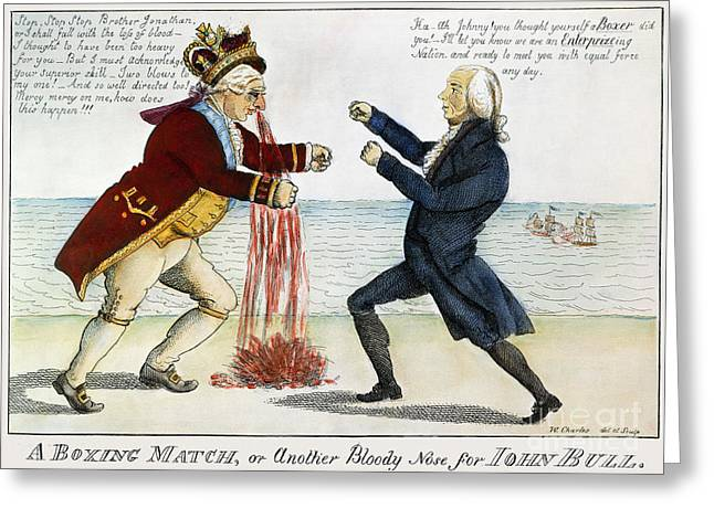Enterprise Greeting Cards - War Of 1812: Cartoon, 1813 Greeting Card by Granger