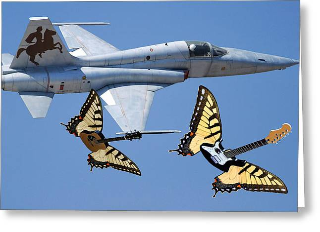 Are Plane Greeting Cards - War On Tour Greeting Card by Eric Kempson