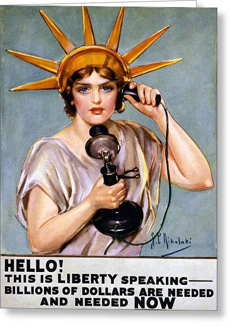 War Propaganda Photographs Greeting Cards - WAR POSTER, c1918 Greeting Card by Granger