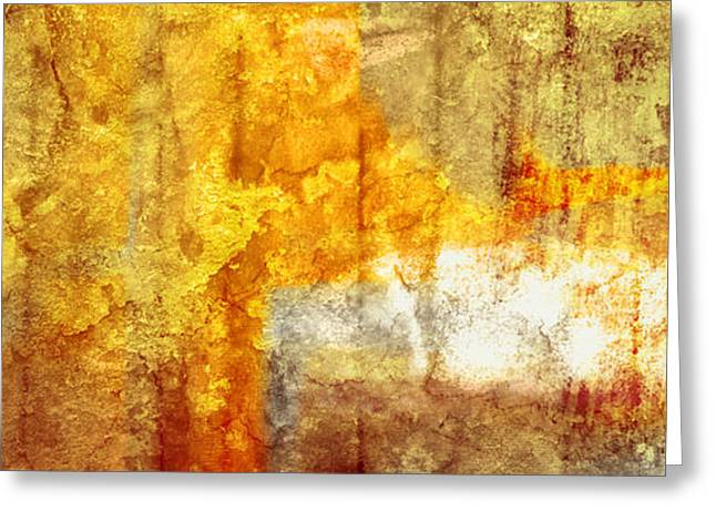 Epic Amazing Colors Landscape Digital Modern Still Life Trees Warm Natural Earth Organic Paint Chic Decor Interior Design Brett Pfister Art Fall Red Brown Tan Texture Surreal Fantasy Abstract Yellow Watercolor Paint Greeting Cards - Warm Abstract Greeting Card by Brett Pfister