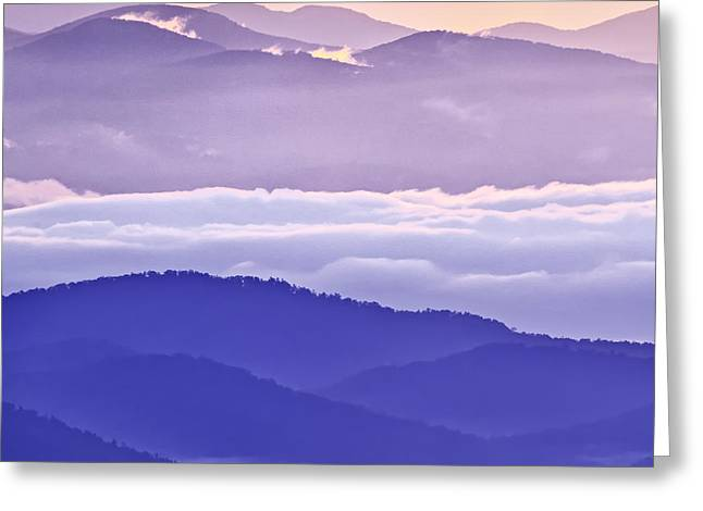North Carolina Greeting Cards - Warm and Cool in the Blueridge Mountains Greeting Card by Rob Travis