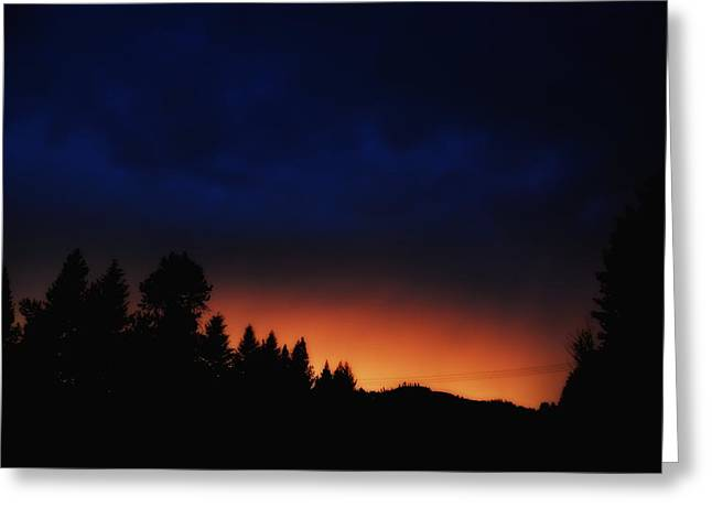 Warm Coloured Night Sky Greeting Card by Don Mann
