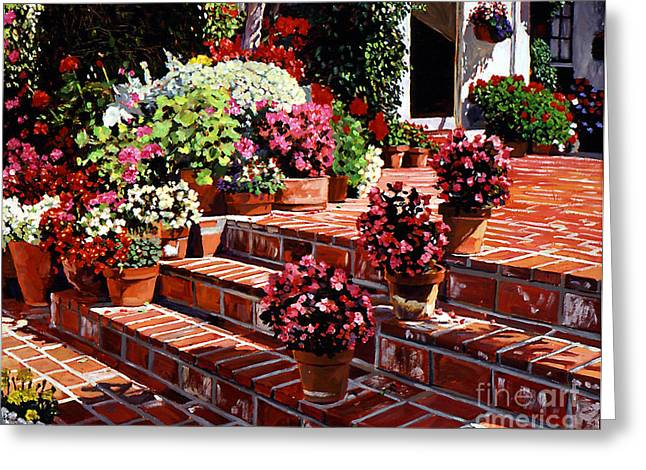 Patio Greeting Cards - Warm Patio Greeting Card by David Lloyd Glover