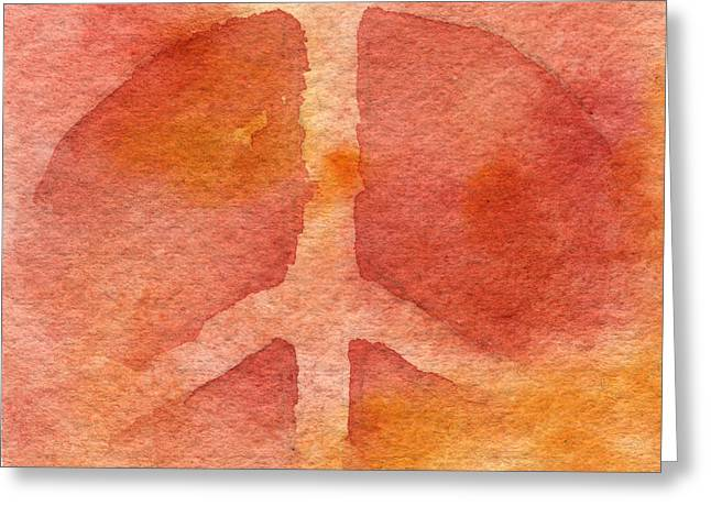 Warm Tones Greeting Cards - Warm Peace Greeting Card by Sean Seal