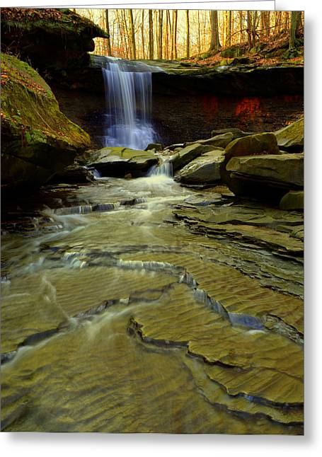 Majestic View Greeting Cards - Warm Sky Cool Water Greeting Card by Frozen in Time Fine Art Photography