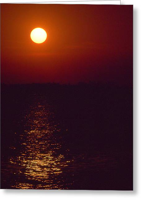 Gloaming Photographs Greeting Cards - Warm Sunset Greeting Card by Al Hurley