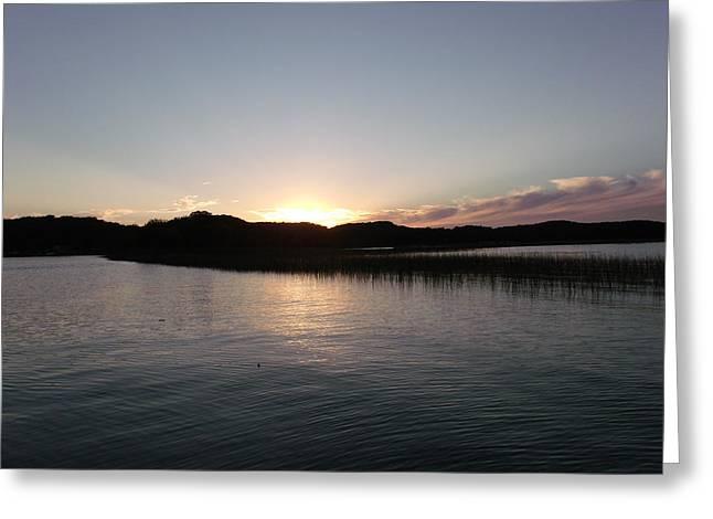 Warm Sunshine Lake Greeting Card by Brian  Maloney