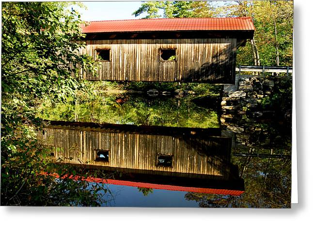 Warner Covered Bridge Greeting Card by Greg Fortier