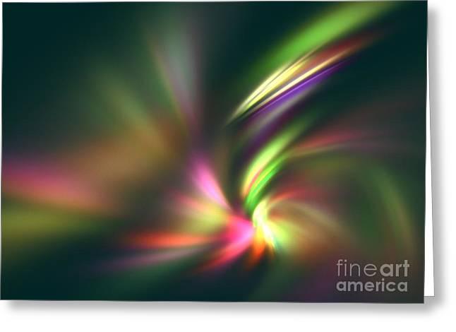 Warp Speed Greeting Card by Kim Sy Ok