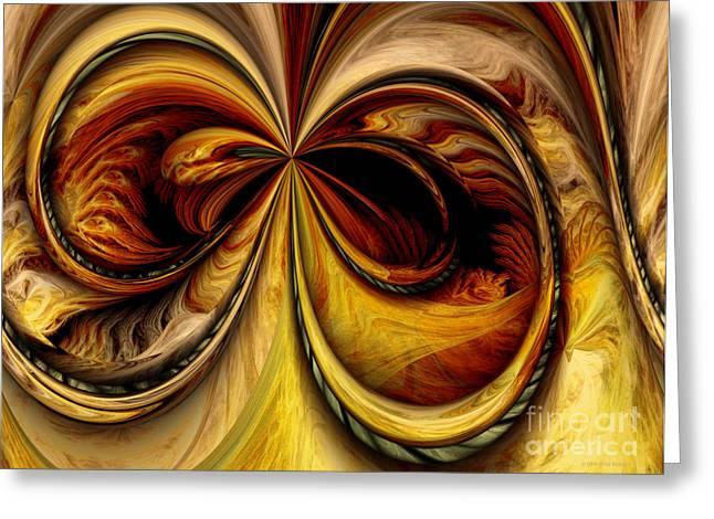 Warp Greeting Cards - Warped Journey Greeting Card by Deborah Benoit