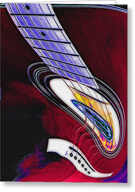 Distortion Mixed Media Greeting Cards - Warped Music Greeting Card by Steve Ohlsen