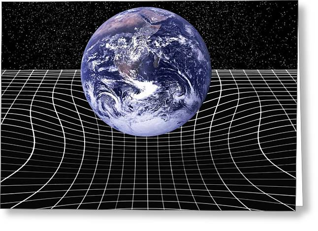 Warp Greeting Cards - Warped Space-time Due To Gravity Greeting Card by Victor De Schwanberg