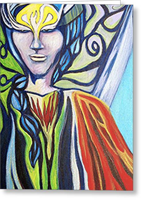 Warrior Goddess Greeting Cards - Warrior Greeting Card by Laura Salazar