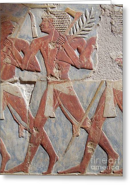Hathor Greeting Cards - Warrior of Hatshepsut Greeting Card by Richard Deurer