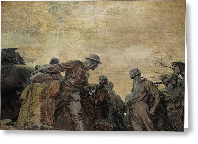 Gutzon Greeting Cards - Wars of America Greeting Card by Paul Ward