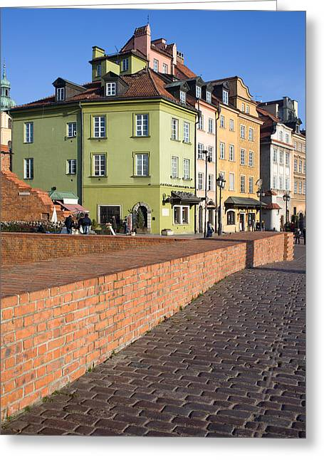 Old Home Place Greeting Cards - Warsaw Old Town Greeting Card by Artur Bogacki
