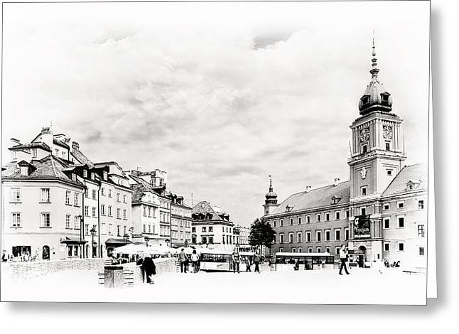 Best Sellers -  - Polish Culture Greeting Cards - Warsaws Castle Square Greeting Card by Viktor Korostynski