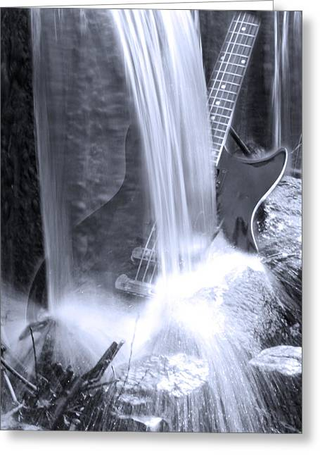 Water Fall Digital Art Greeting Cards - Washed Out  Greeting Card by Cathy  Beharriell
