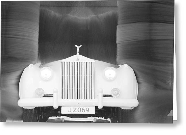 Rr Greeting Cards - Washed Rolls Royce Greeting Card by Jan Faul