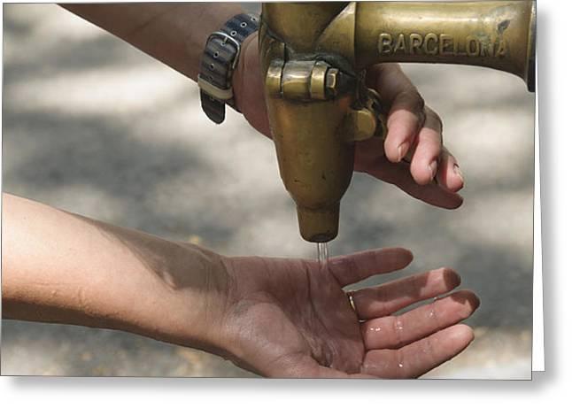 Washing hands Greeting Card by Matthias Hauser