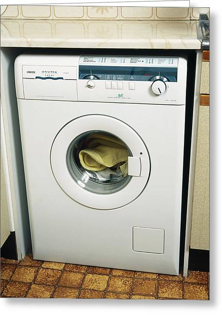 Washing Machine Greeting Cards - Washing Machine Greeting Card by Andrew Lambert Photography