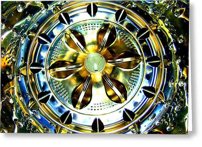Washing Machine Drum Greeting Card by Randall Weidner