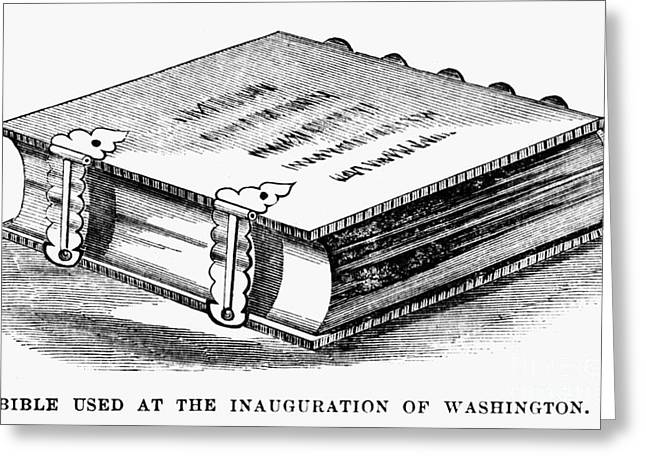 Inaugural Greeting Cards - Washington: Bible Greeting Card by Granger