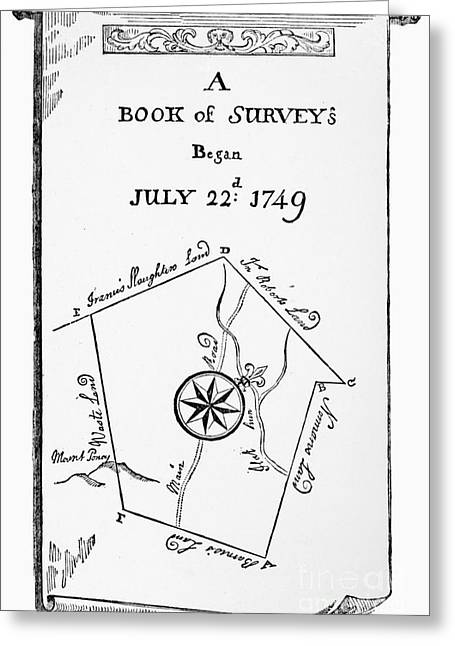 Book Title Greeting Cards - Washington: Book Of Surveys Greeting Card by Granger