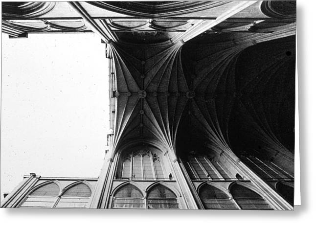 Historic Us Open Greeting Cards - Washington Cathedral Unfinished Nave Greeting Card by Jan Faul
