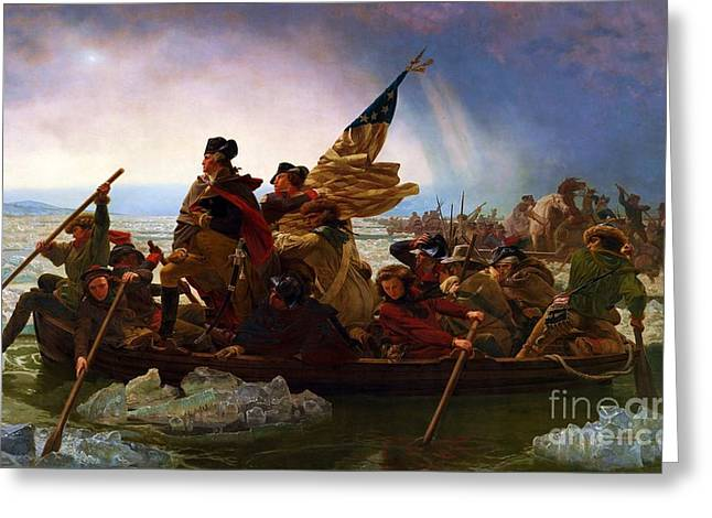 Washington Crossing The Delaware Greeting Card by Pg Reproductions