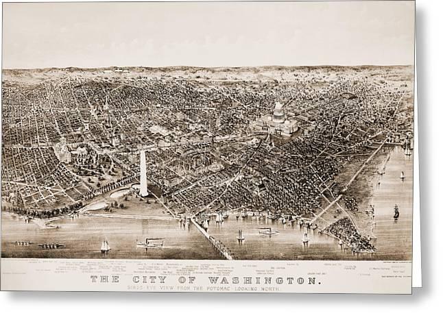 WASHINGTON D.C., 1892 Greeting Card by Granger