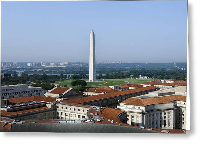 Federal Government Greeting Cards - Washington DC aerial Greeting Card by Brendan Reals