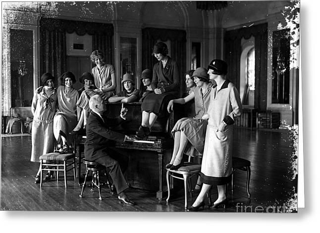 Rehearsing Greeting Cards - Washington Debutantes Rehearsing Greeting Card by Photo Researchers