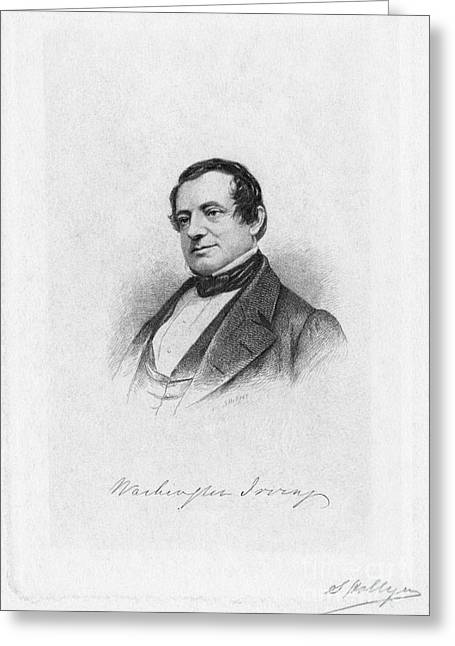 Autograph Greeting Cards - Washington Irving Greeting Card by Granger