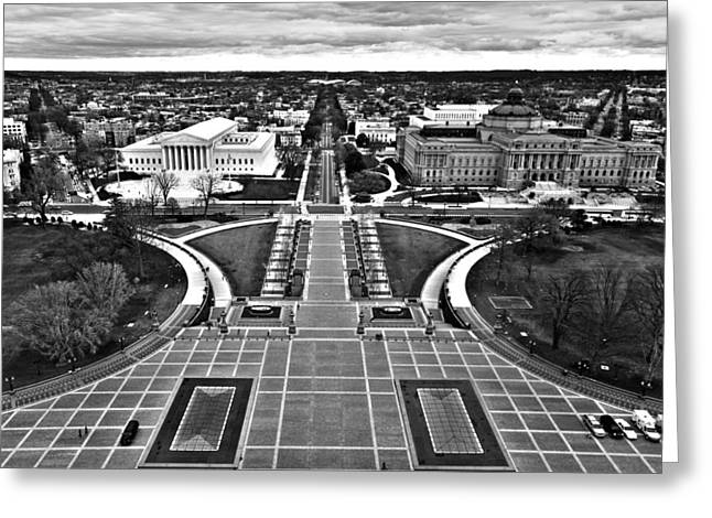 Library Of Congress Greeting Cards - Washington Greeting Card by Mitch Cat