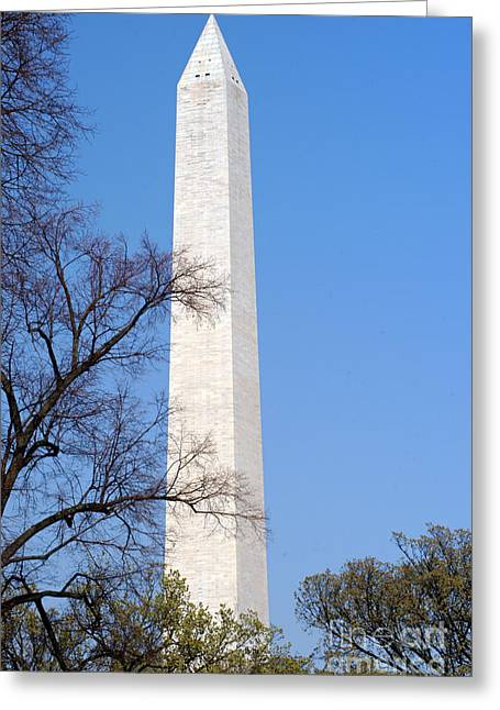 Bruster Greeting Cards - Washington Monument Greeting Card by Clayton Bruster