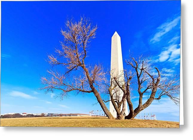 Washington Monument In Washington Dc Greeting Card by Chiramanas  Jutidharabongse