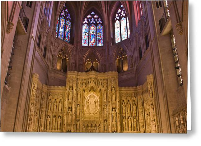 Washington National Cathedral III Greeting Card by Irene Abdou