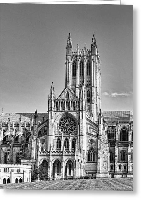 Cathedral Rock Greeting Cards - Washington National Cathedral in the District of Columbia Greeting Card by Brendan Reals