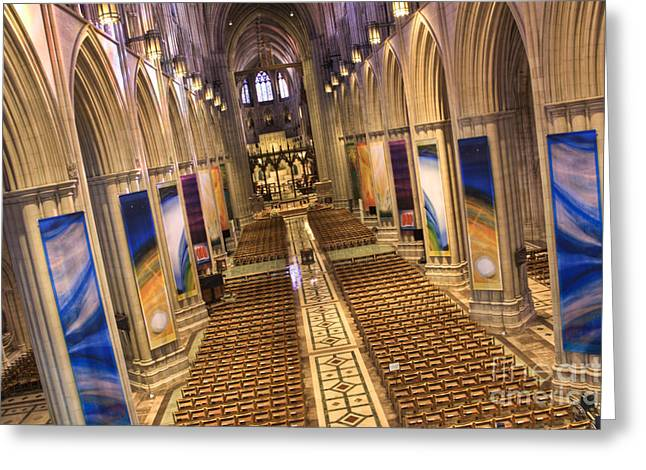 Forgiven Greeting Cards - Washington National Cathedral IV Greeting Card by Irene Abdou