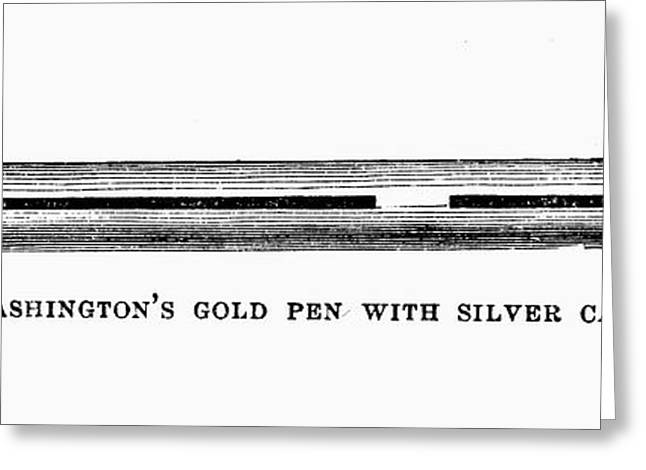 Pen Greeting Cards - Washington: Pen Greeting Card by Granger