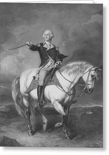 American Revolution Greeting Cards - Washington Receiving A Salute At Trenton Greeting Card by War Is Hell Store