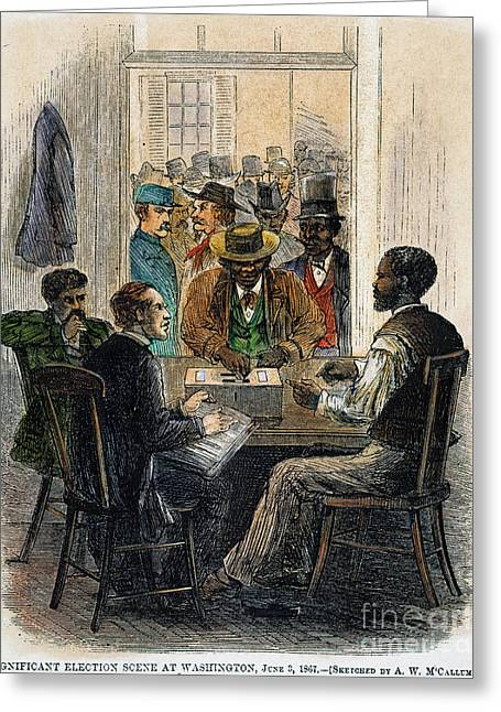 Voting Rights Greeting Cards - Washington: Voting, 1867 Greeting Card by Granger